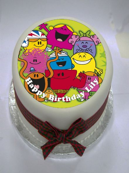 Mr Men Edible Cake Topper